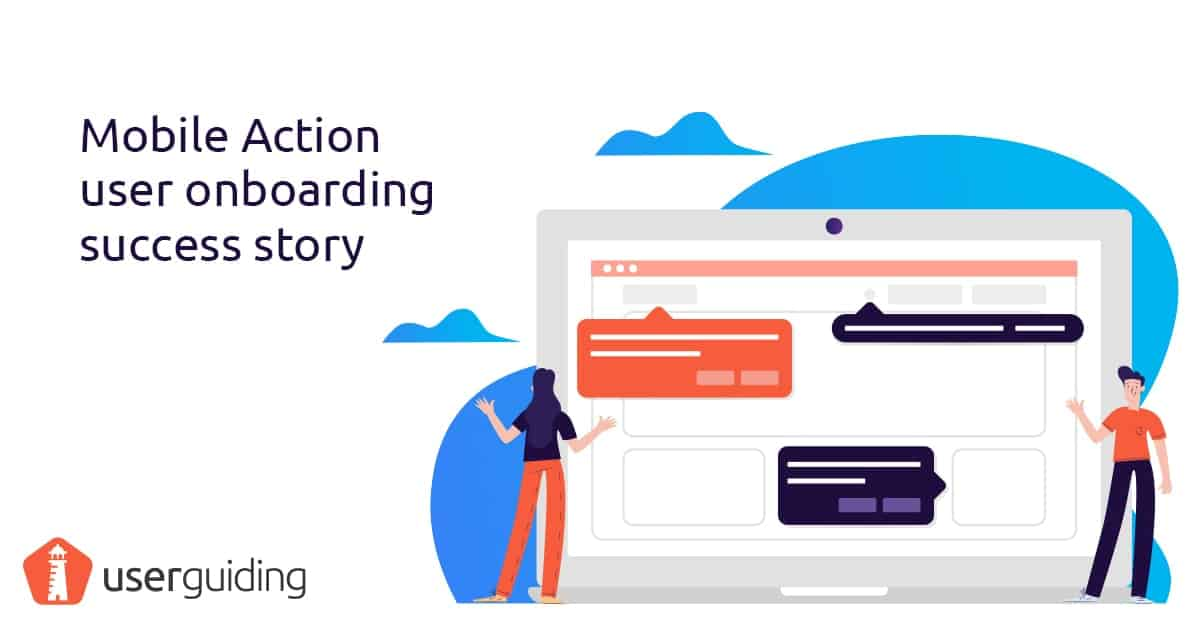 user onboarding success story mobile action