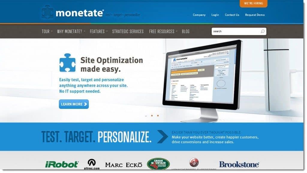 Best A/B Testing Tools - Monetate