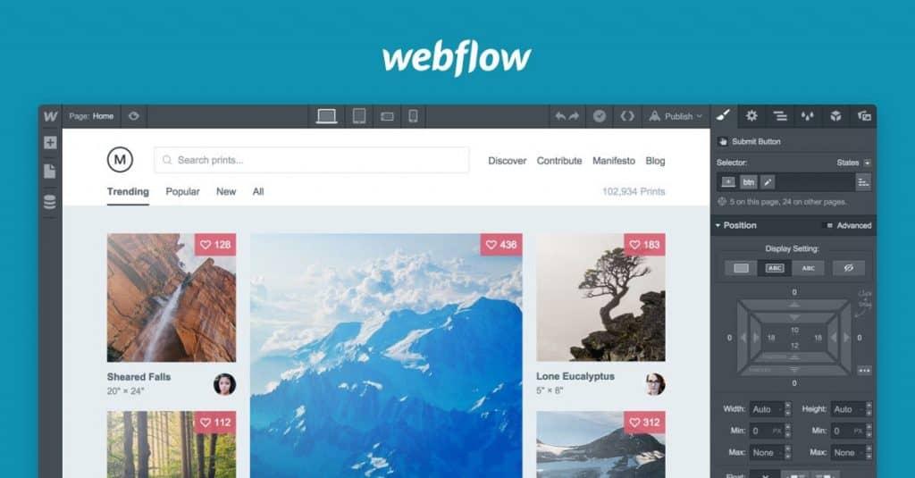 Best Design Prototyping Tools - Webflow