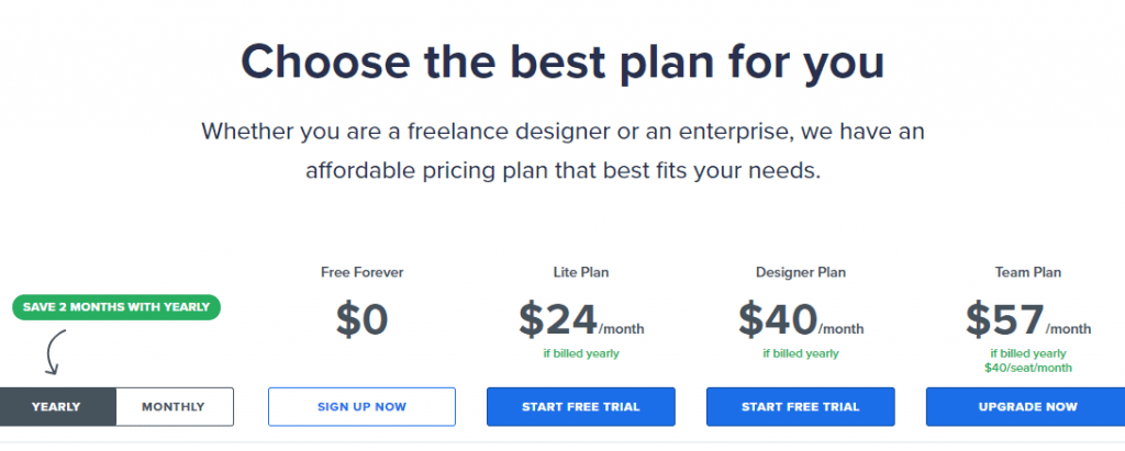 Best Tools for Startup Growth Hackers in 2019 - Artboard Studio Pricing