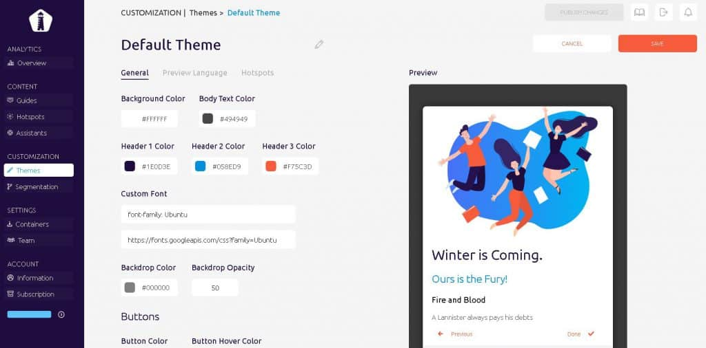 UserGuiding 2.0 - more customization with themes