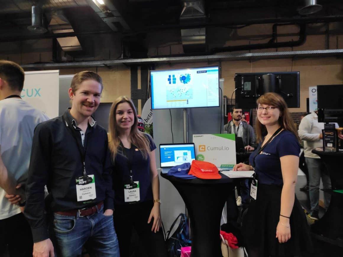 Team cumul.io at TechCrunch Disrupt Berlin 2019