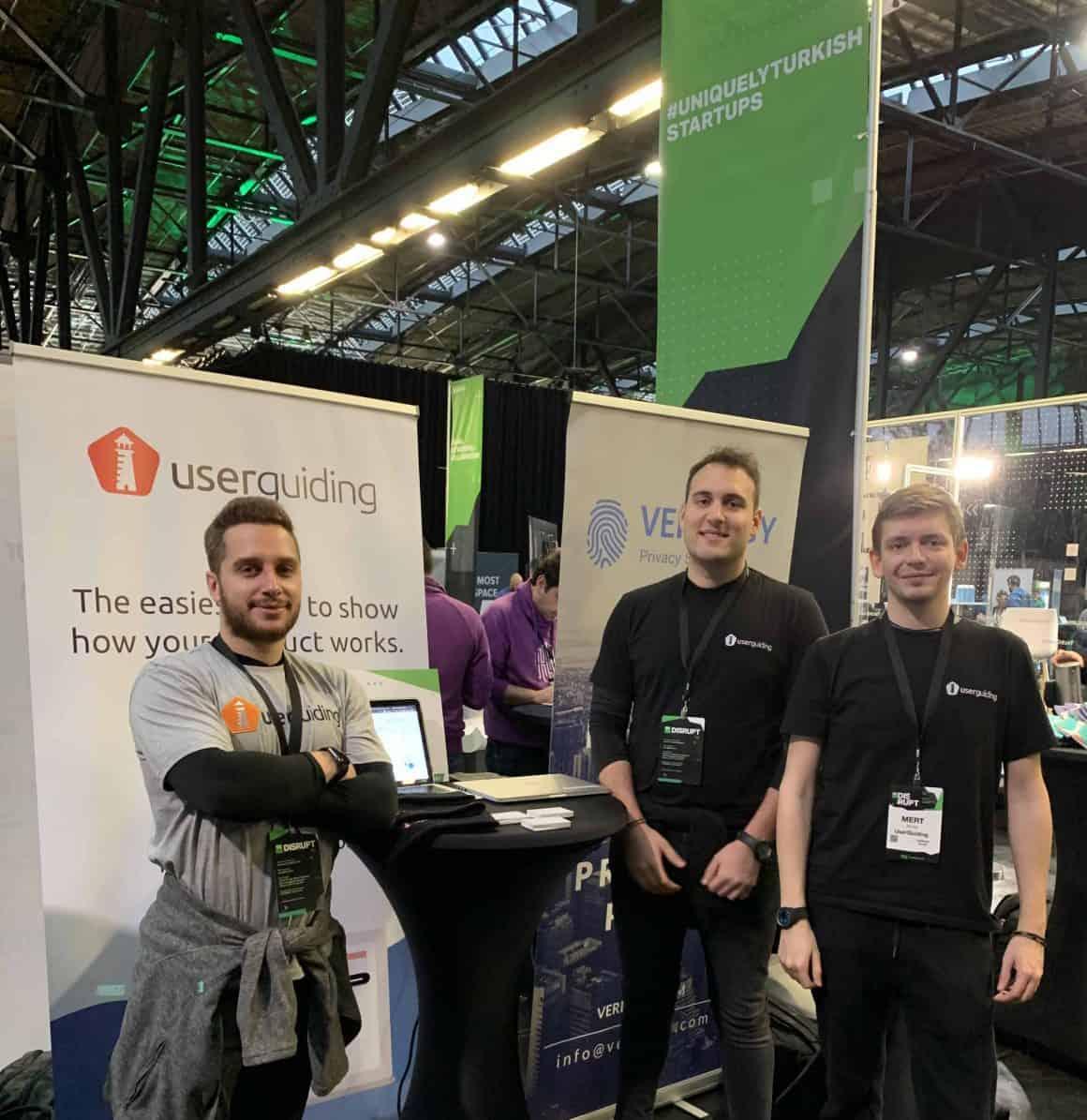 Team UserGuiding at TechCrunch Disrupt Berlin 2019
