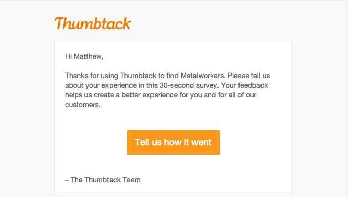 email onboarding feedback