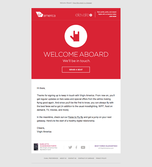 email onboarding welcome