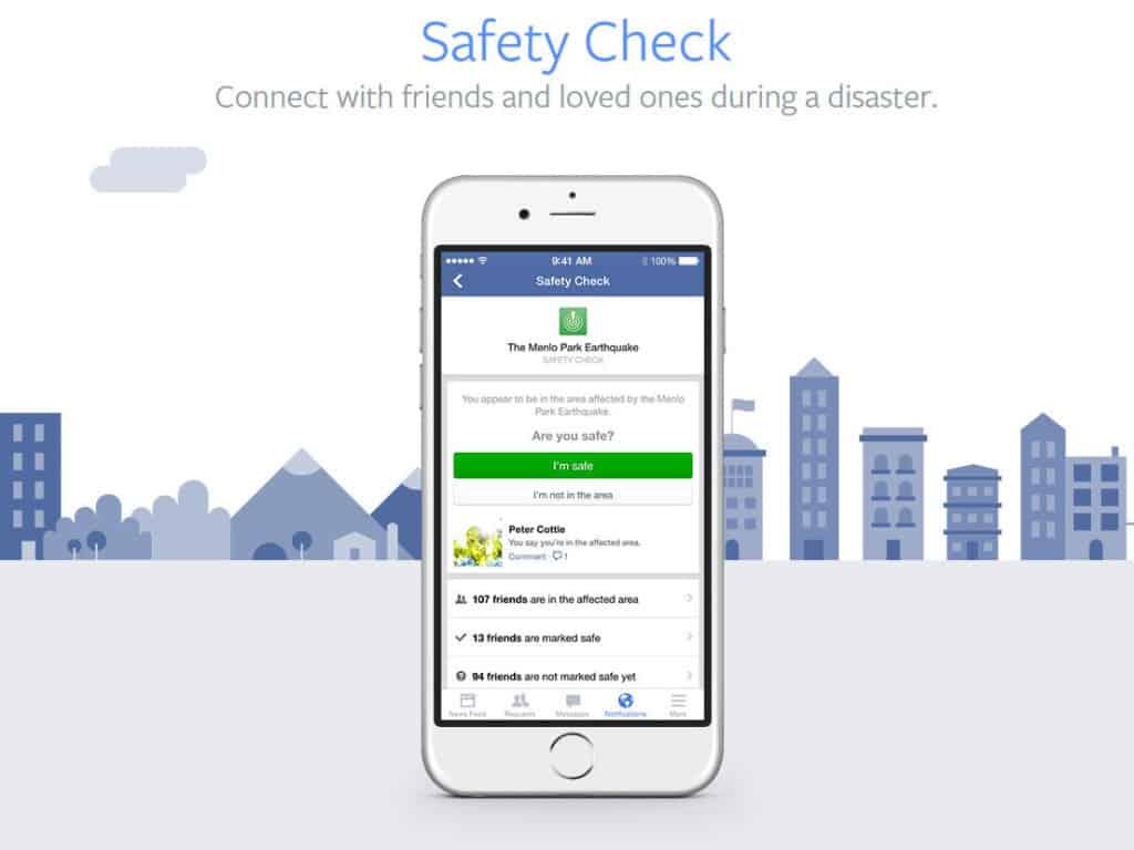facebook safety check good ux