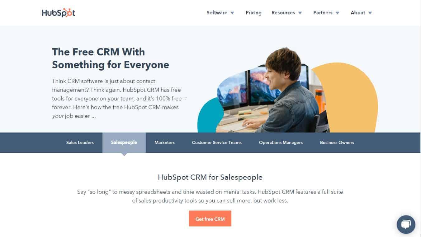 Best CRM Tools - Hubspot