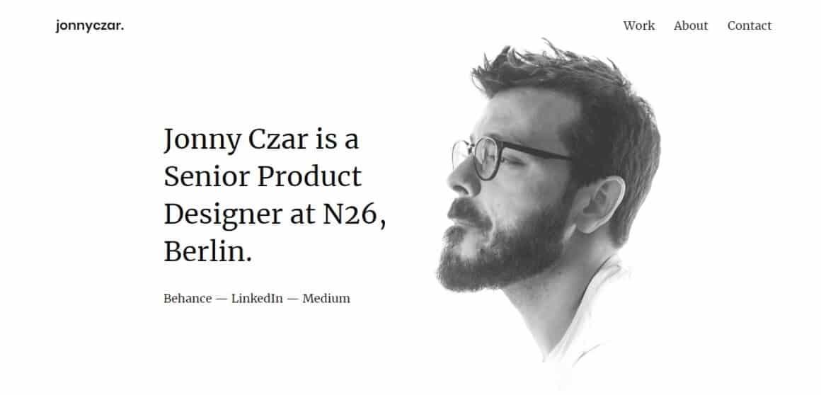 ux designer portfolio examples jonny czar
