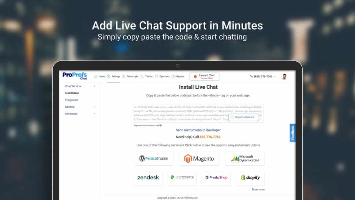 Best  Growth HackingTools ProProfs Chat
