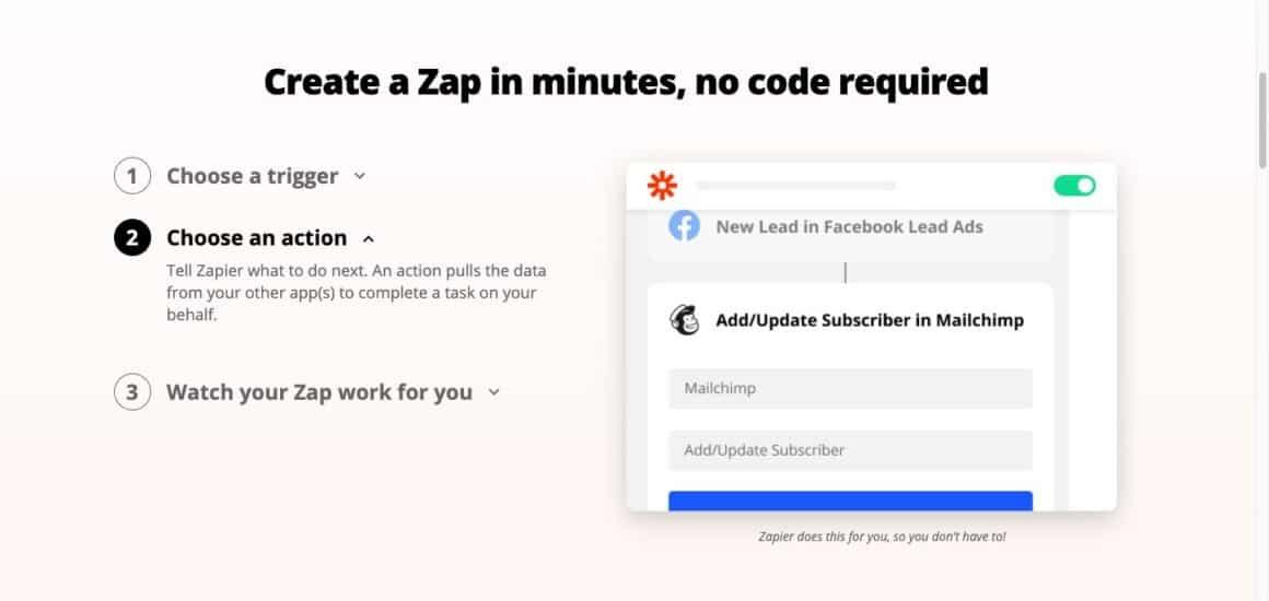 no code tools zapier