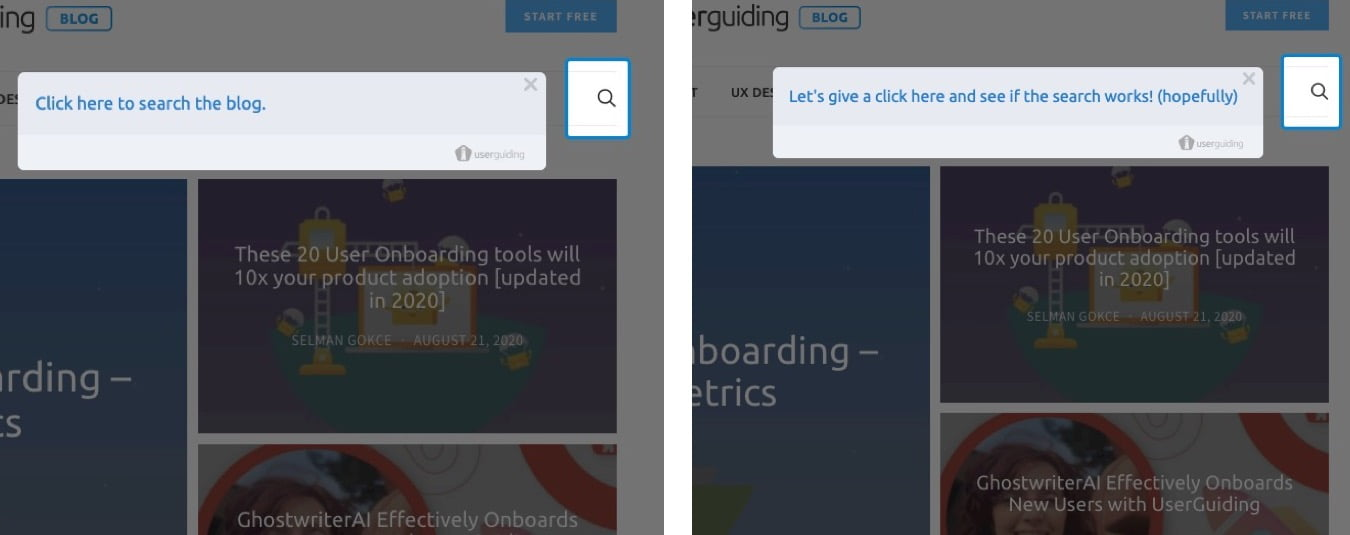 make user onboarding fun click