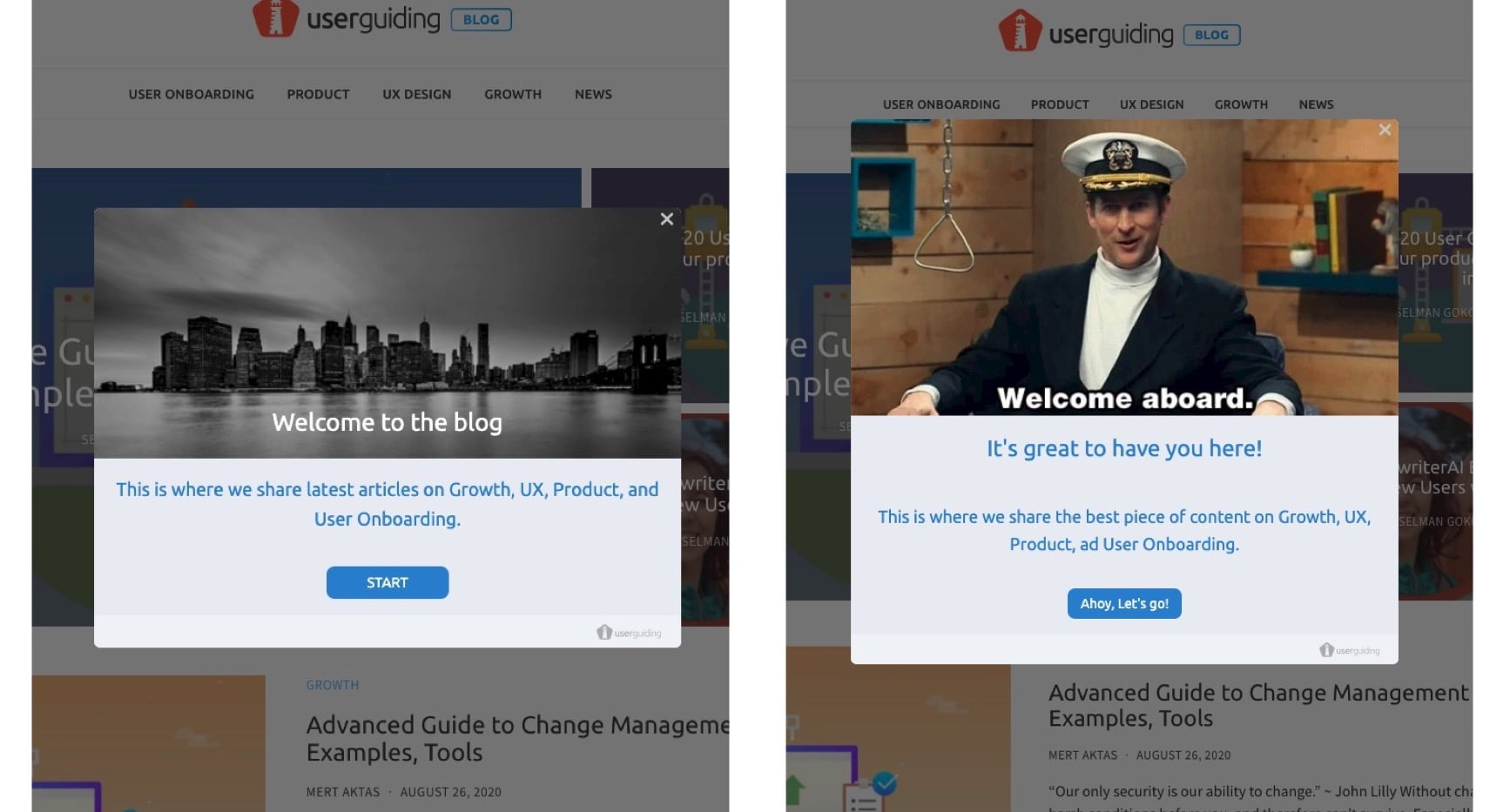 make user onboarding fun welcome message