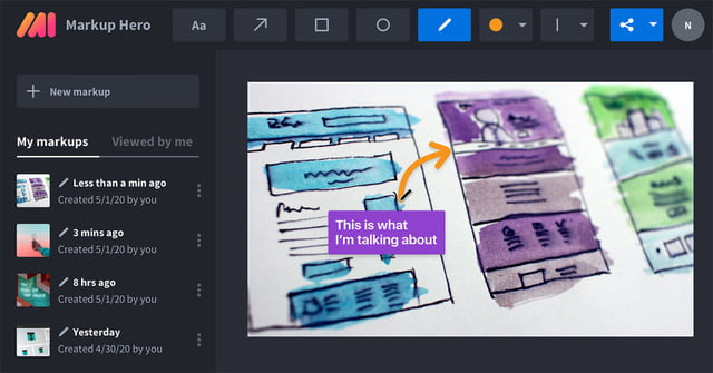 Free screenshot and annotation tool for product marketing managers