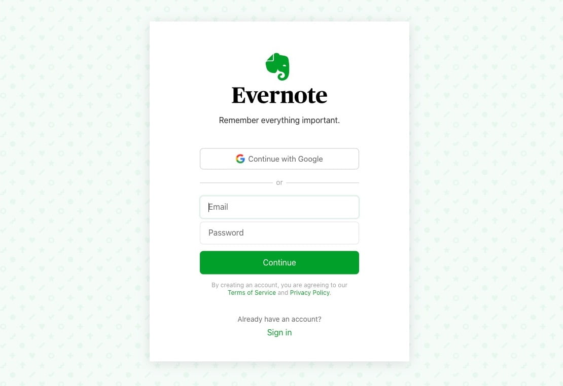saas onboarding examples evernote 1