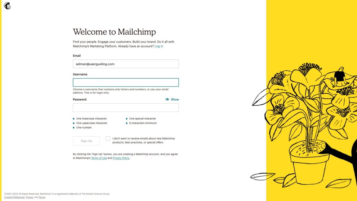 saas onboarding examples mailchimp 1