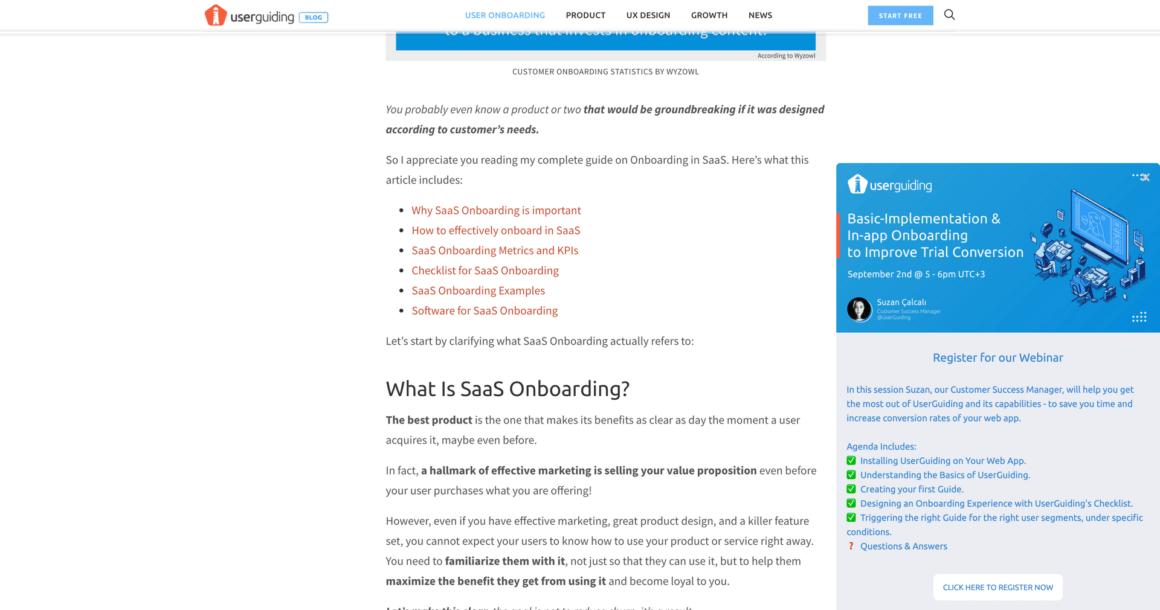 how to promote webinar userguiding