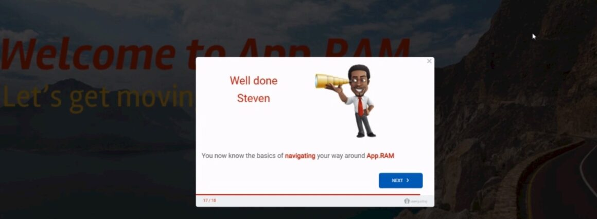 RAM well done modal