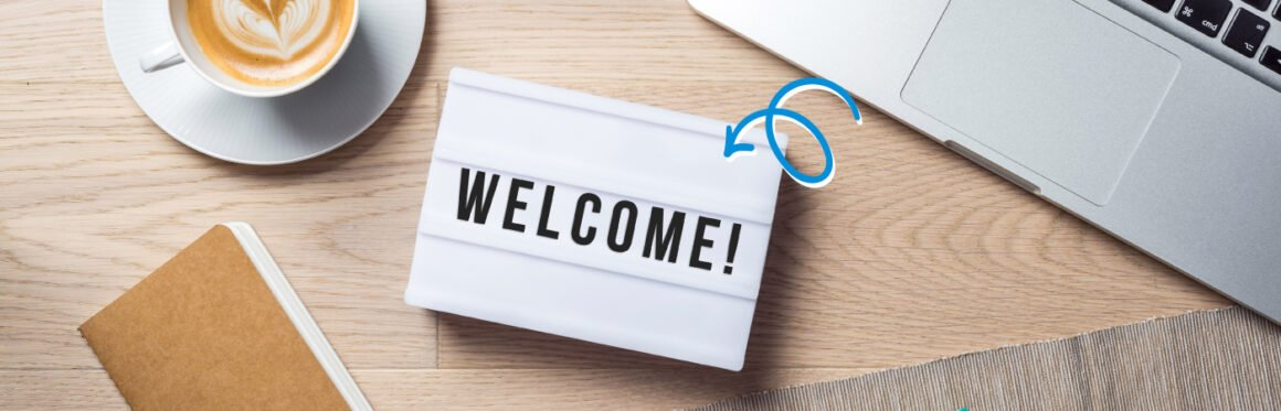 how to design a welcome page