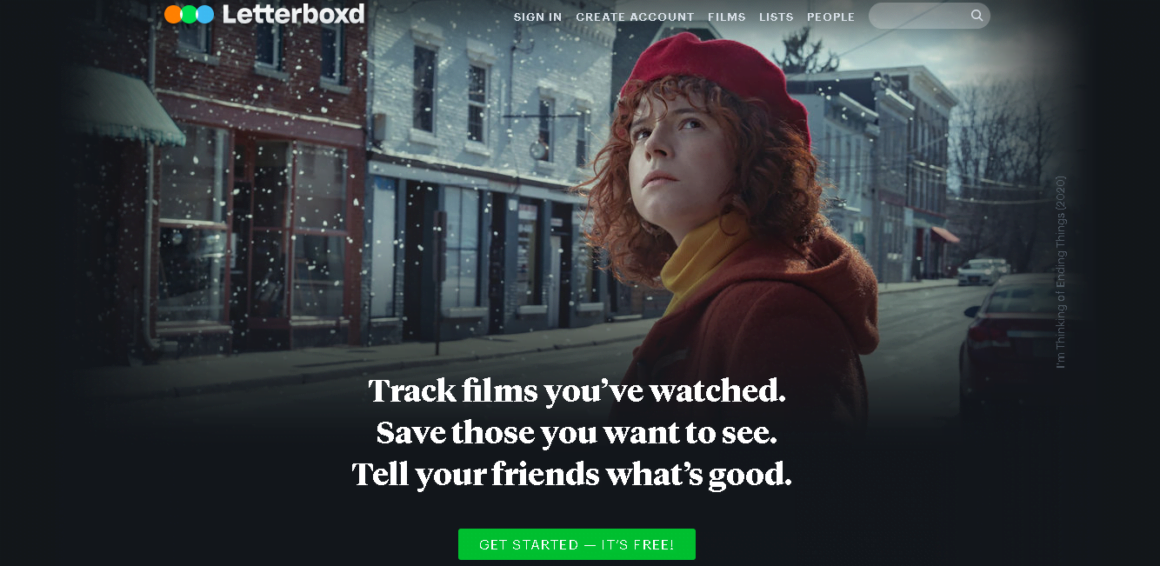 welcome page examples letterboxd