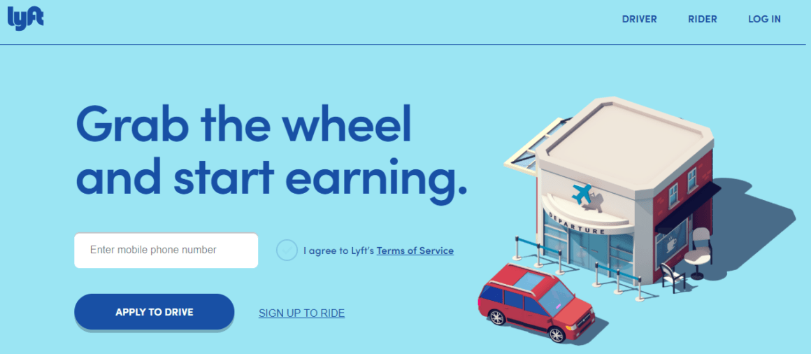 welcome page examples lyft