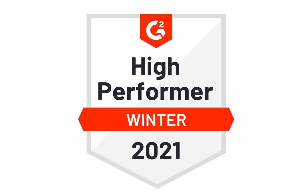 UserGuiding G2 Badge Winter 2021