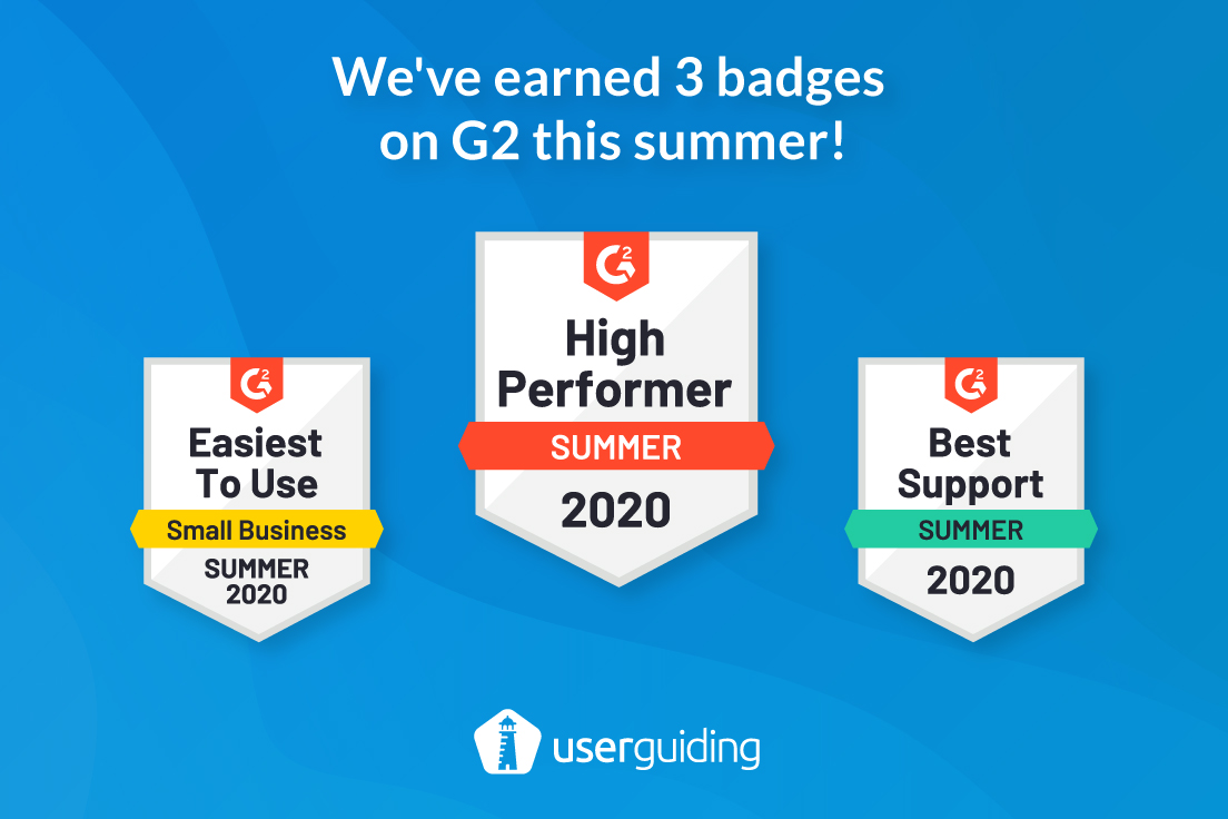UserGuiding summer badges 2020