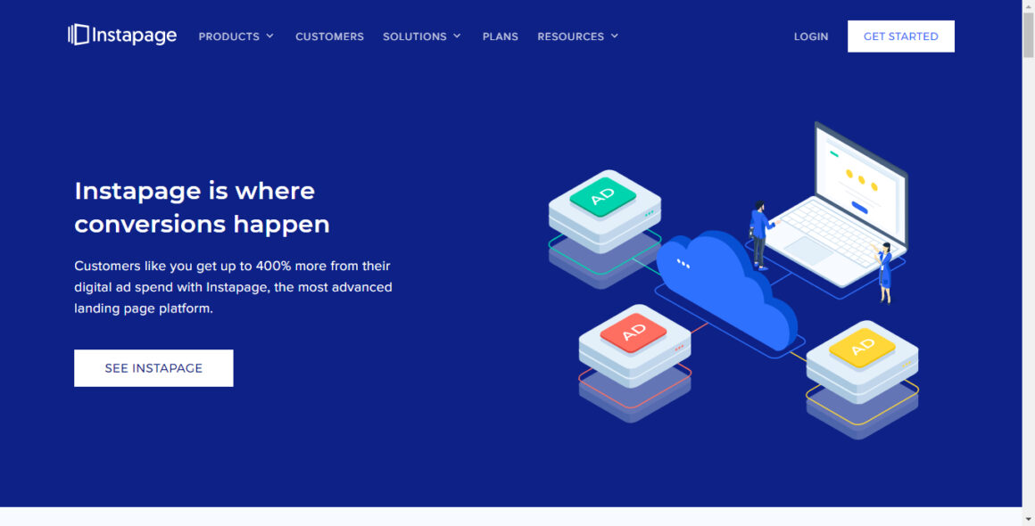 landing page tools instapage