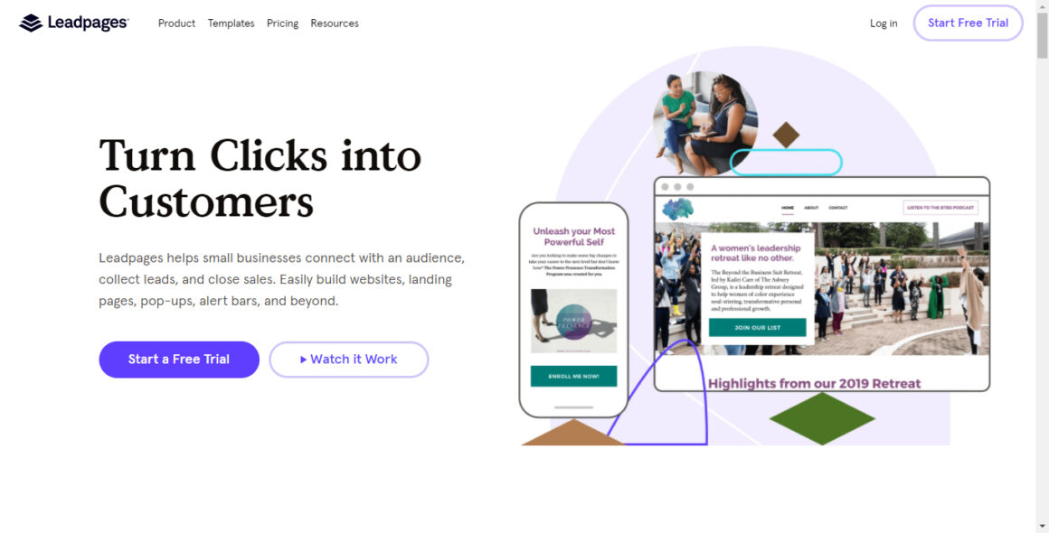 landing page tools leadpages