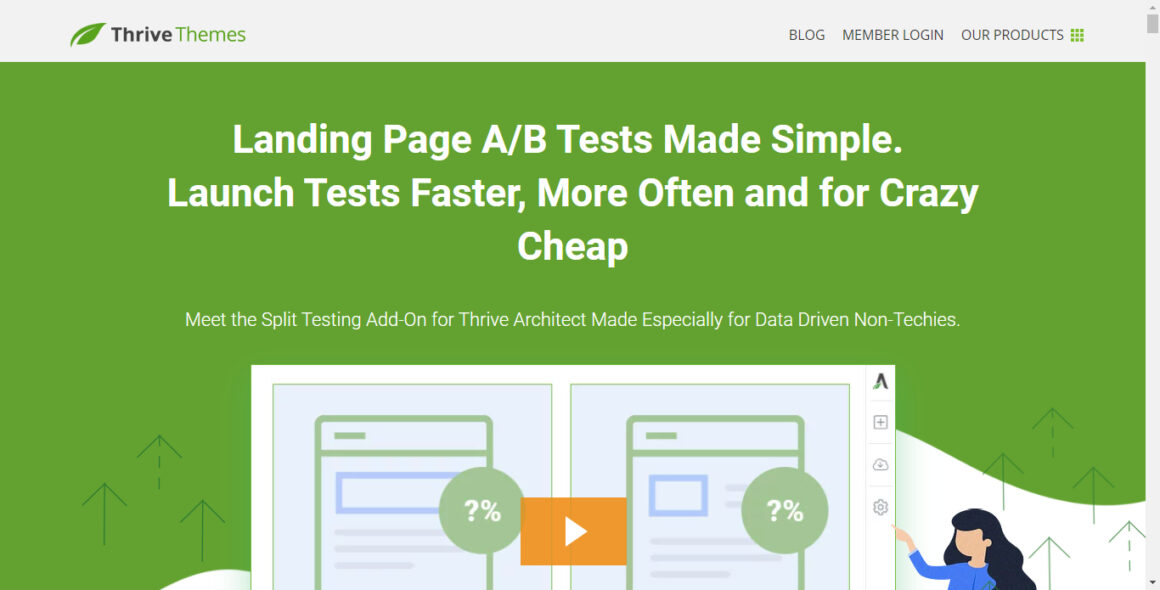 landing page tools thrive themes