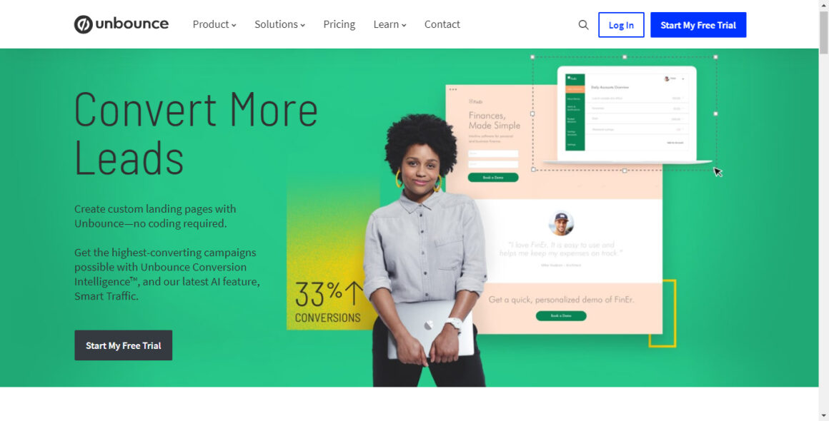 landing page tools unbounce