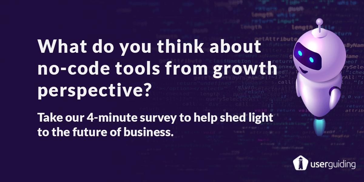 no-code growth tools survey