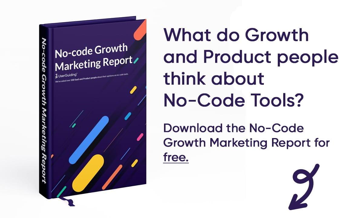 no-code growth marketing report userguiding