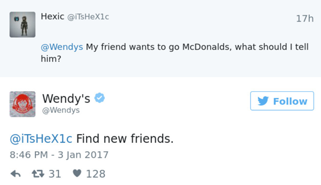 customer engagement examples wendy's