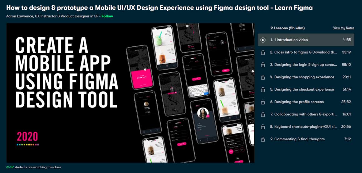 figma tutorials courses mobile ui ux