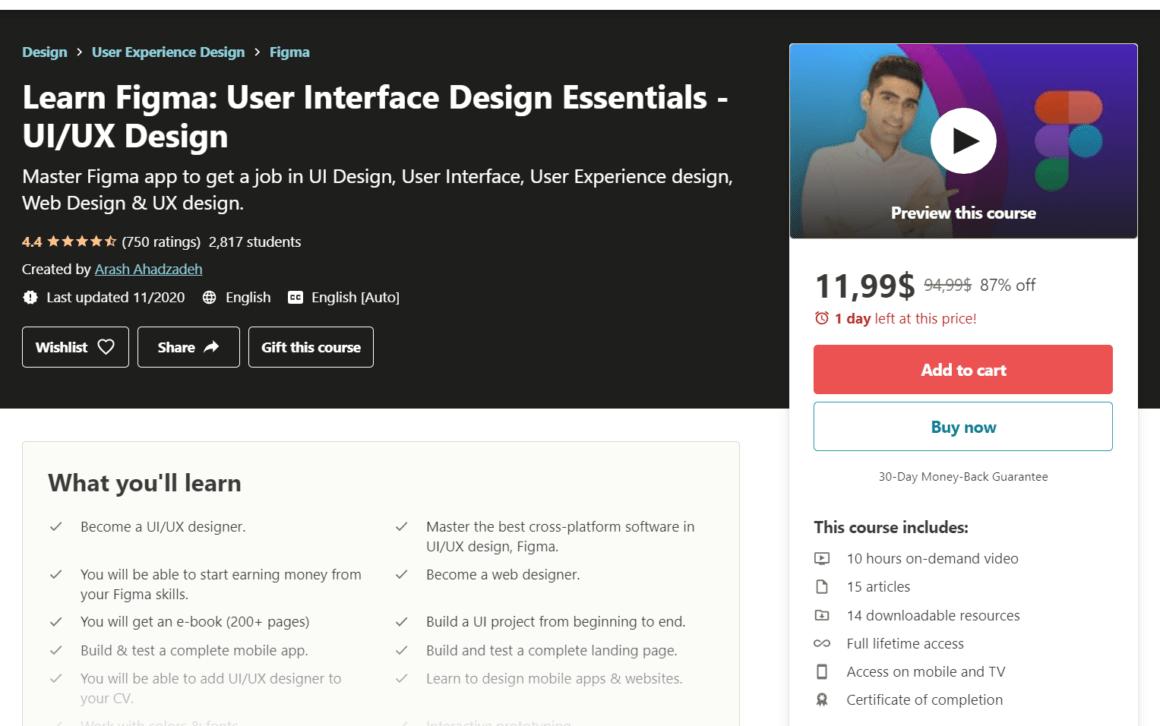 figma tutorials courses ui design essentials