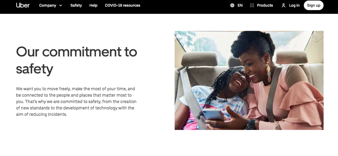 Growth Hacking examples Uber Safety