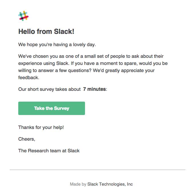 customer retention best practices slack email survey