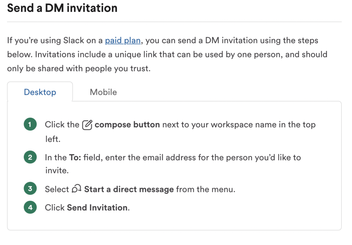 product update examples slack 4