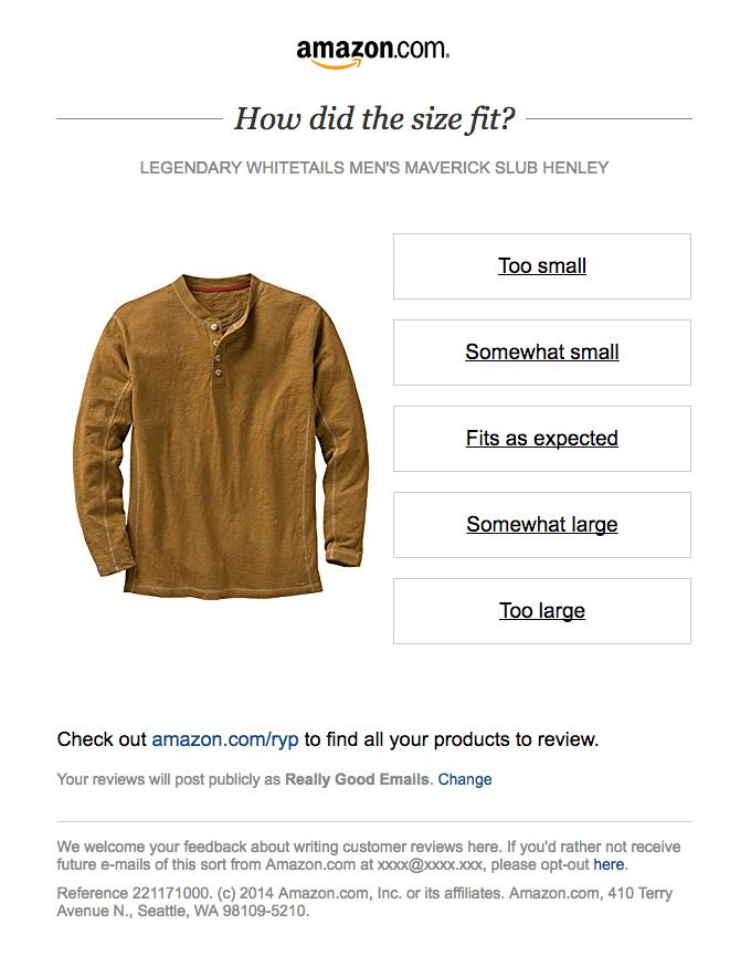 amazon customer feedback email example