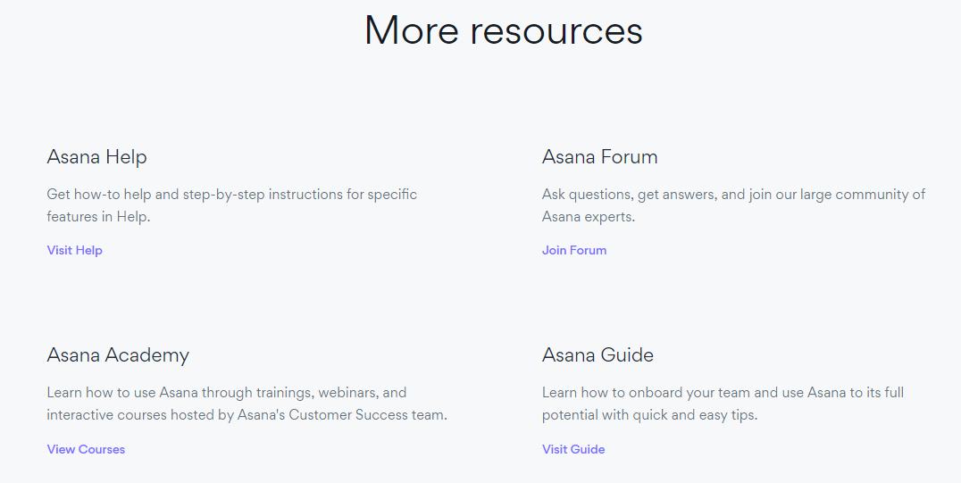 help center examples asana