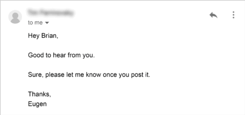 growth strategies for startups - send personalized emails and get replies