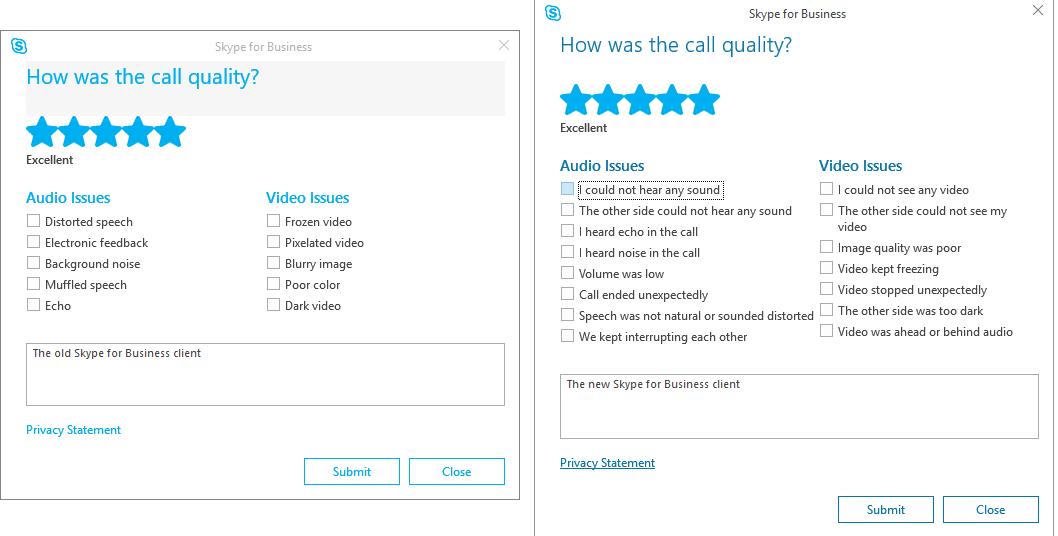 skype customer feedback survey example