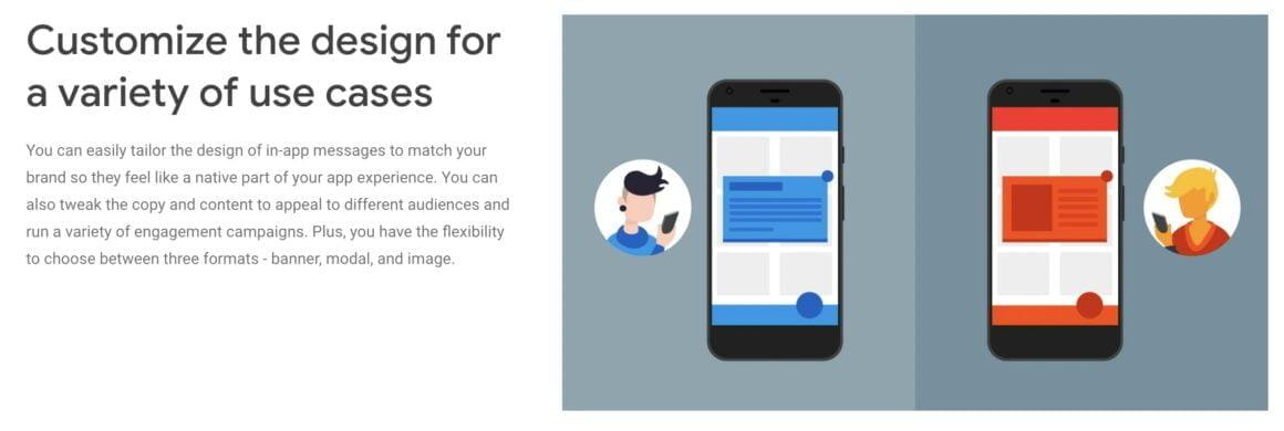 Firebase in-app messaging tool for mobile apps