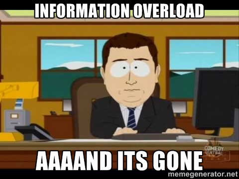 the risk of information overload
