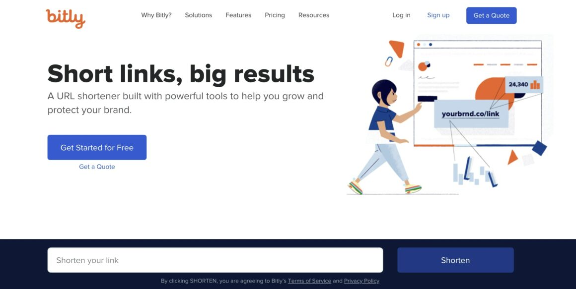 bitly landing page example