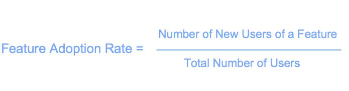 Feature adoption rate formula