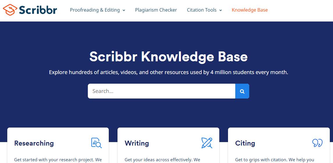 help center scribbr knowledge base