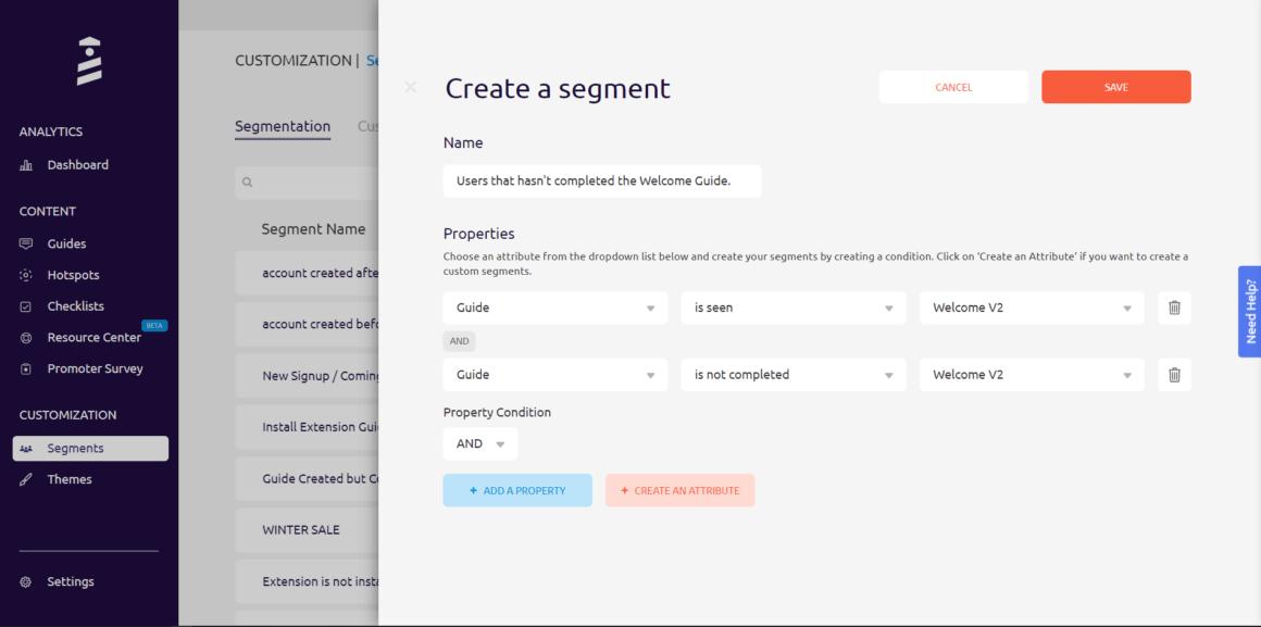 interactive user manual segmentation