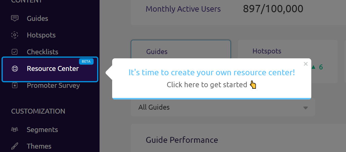 interactive user manual tooltip