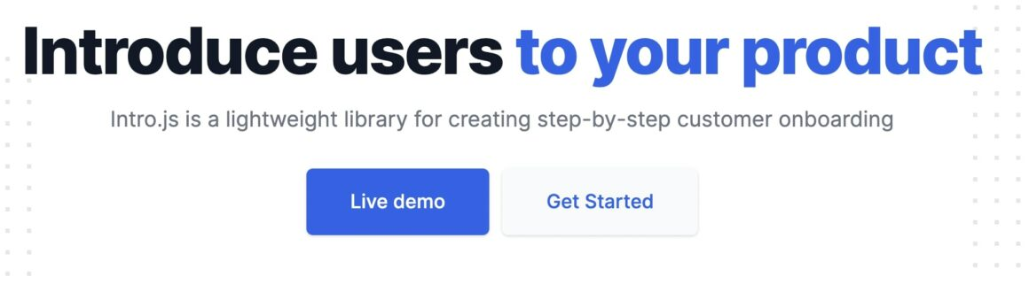 Intro.js onboarding tool